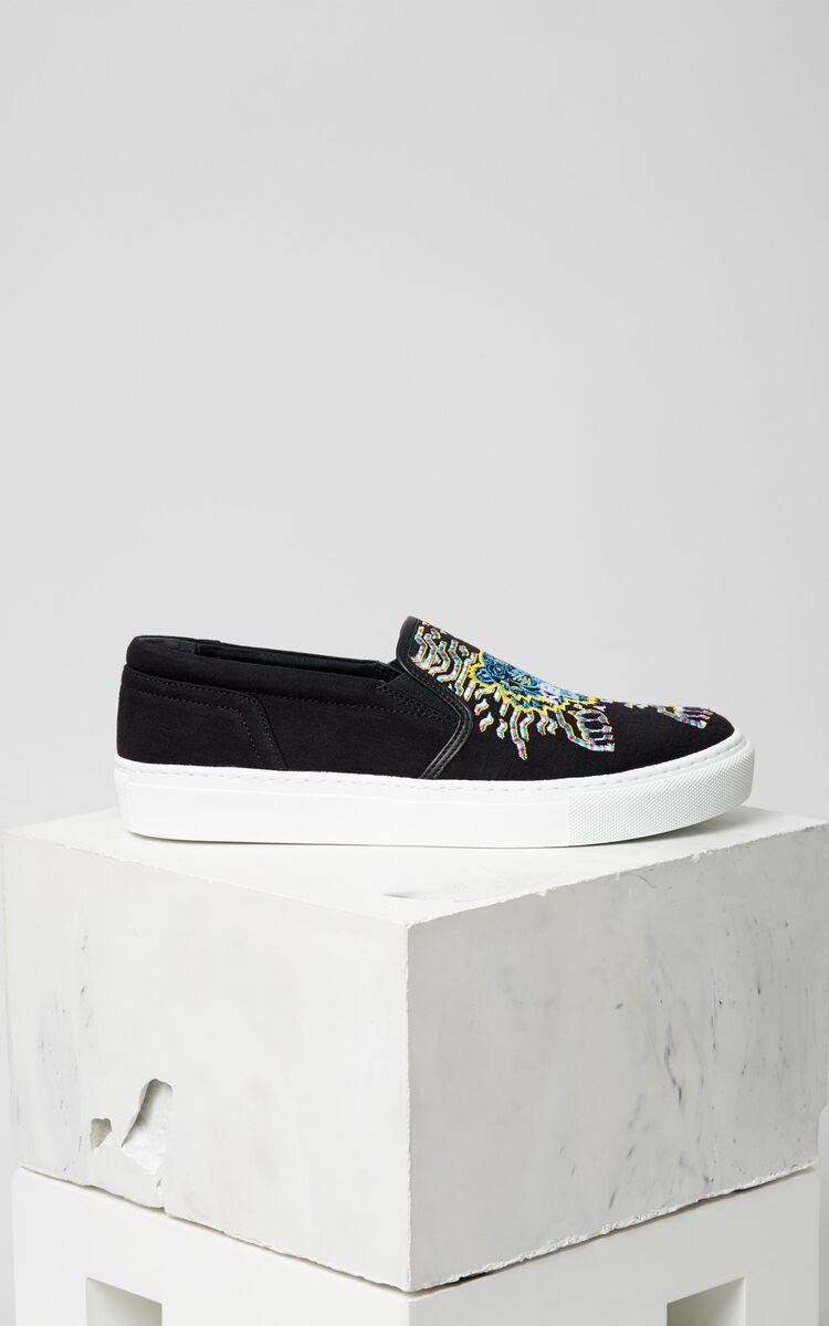 BLACK Géo-Tiger x Rainbow' Slip-on for unisex KENZO