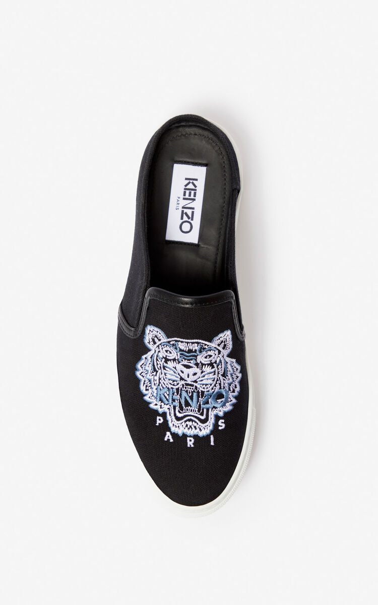 BLACK Halboffener Slip-on K-Skate Tiger für damen KENZO