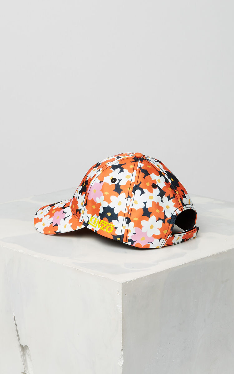 DEEP ORANGE 'Jackie Flowers' Cap for unisex KENZO