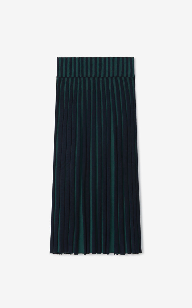 DUCK BLUE Pleated midi skirt for women KENZO