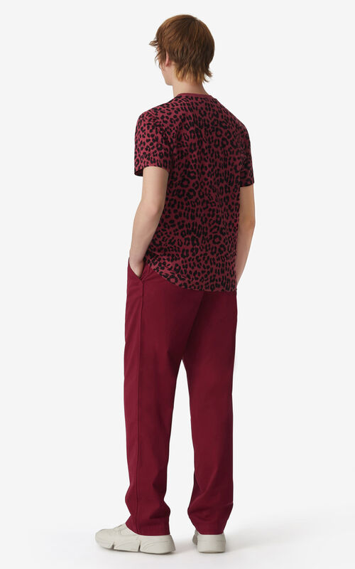 MAGENTA Tonal 'Leopard' t-shirt for men KENZO