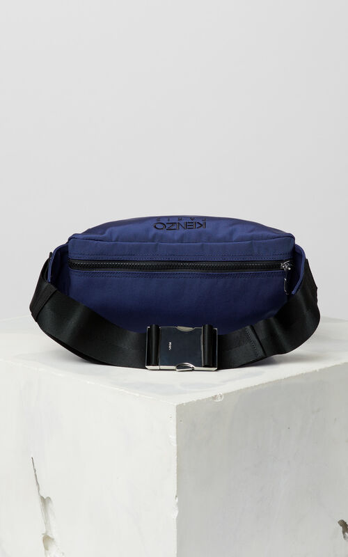 NAVY BLUE Tiger bumbag for men KENZO