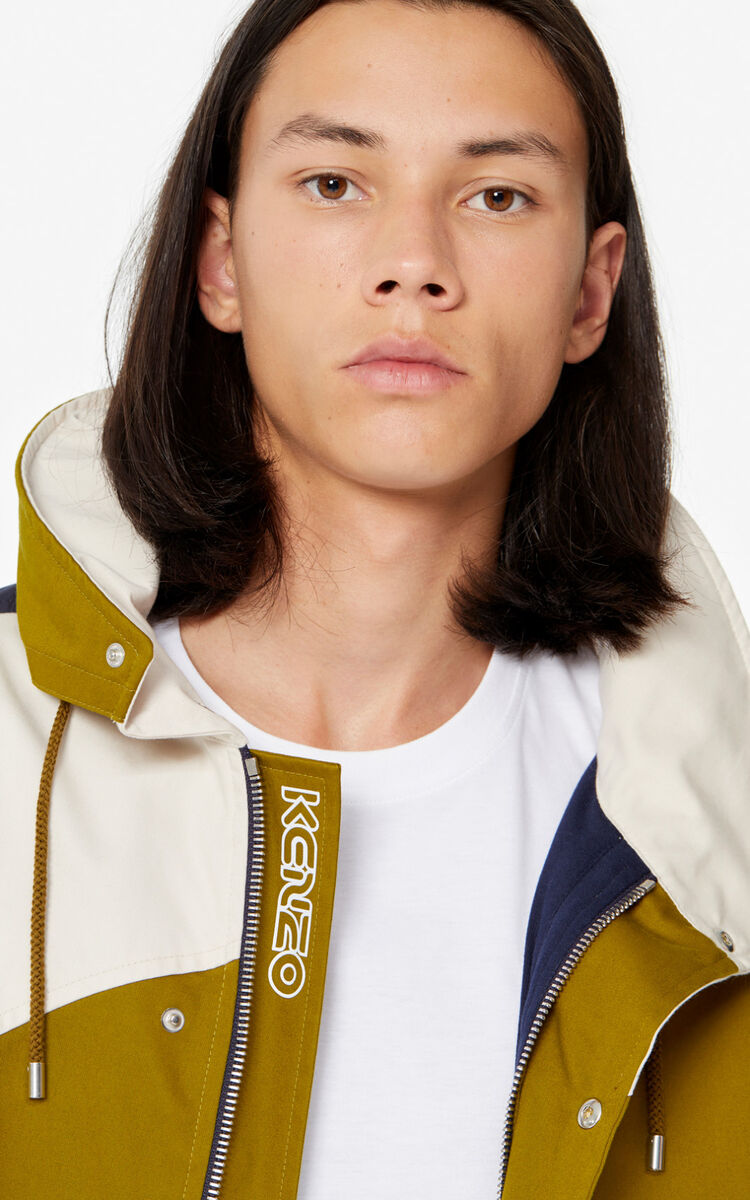 KHAKI Colourblock jacket for men KENZO