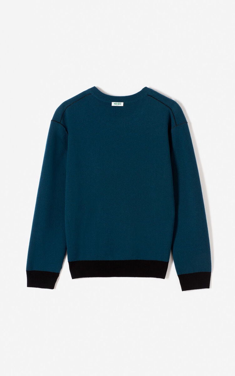 BLACK Reversible wool and cashmere jumper for men KENZO