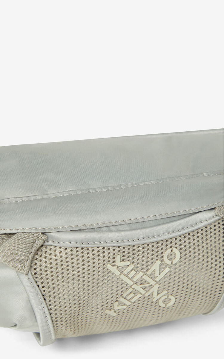 PALE GREY KENZO Sport small belt bag for men