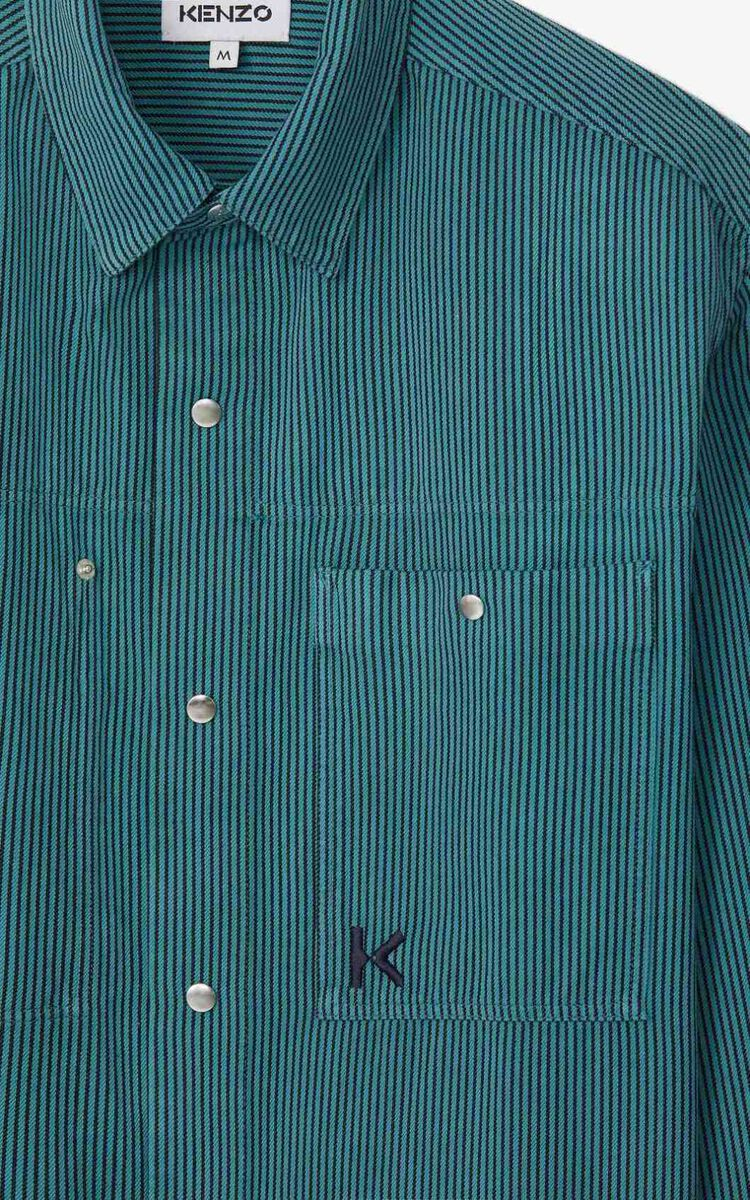 GLACIER Striped overshirt  for women KENZO