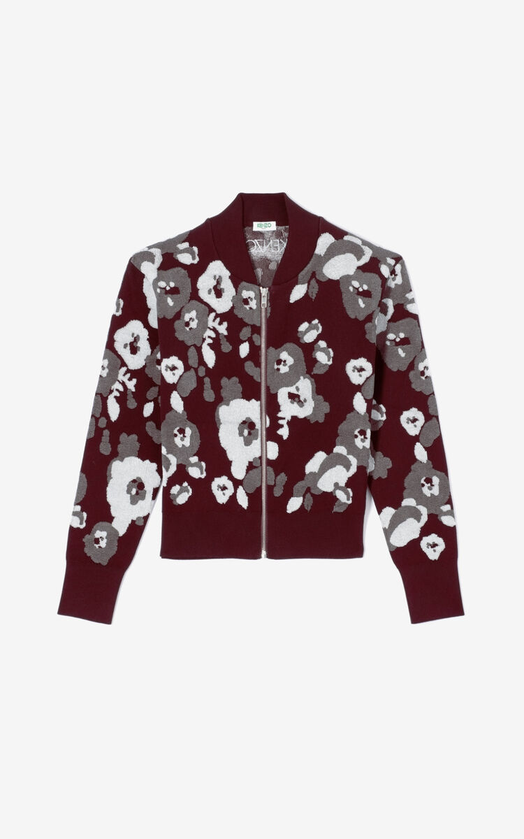DOVE GREY 'Peonie' jacket for women KENZO