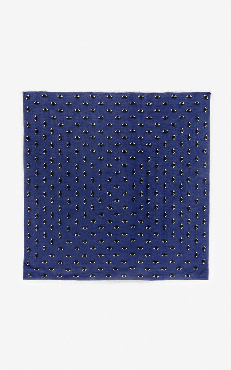 MIDNIGHT BLUE Large multi eye scarf  for women KENZO