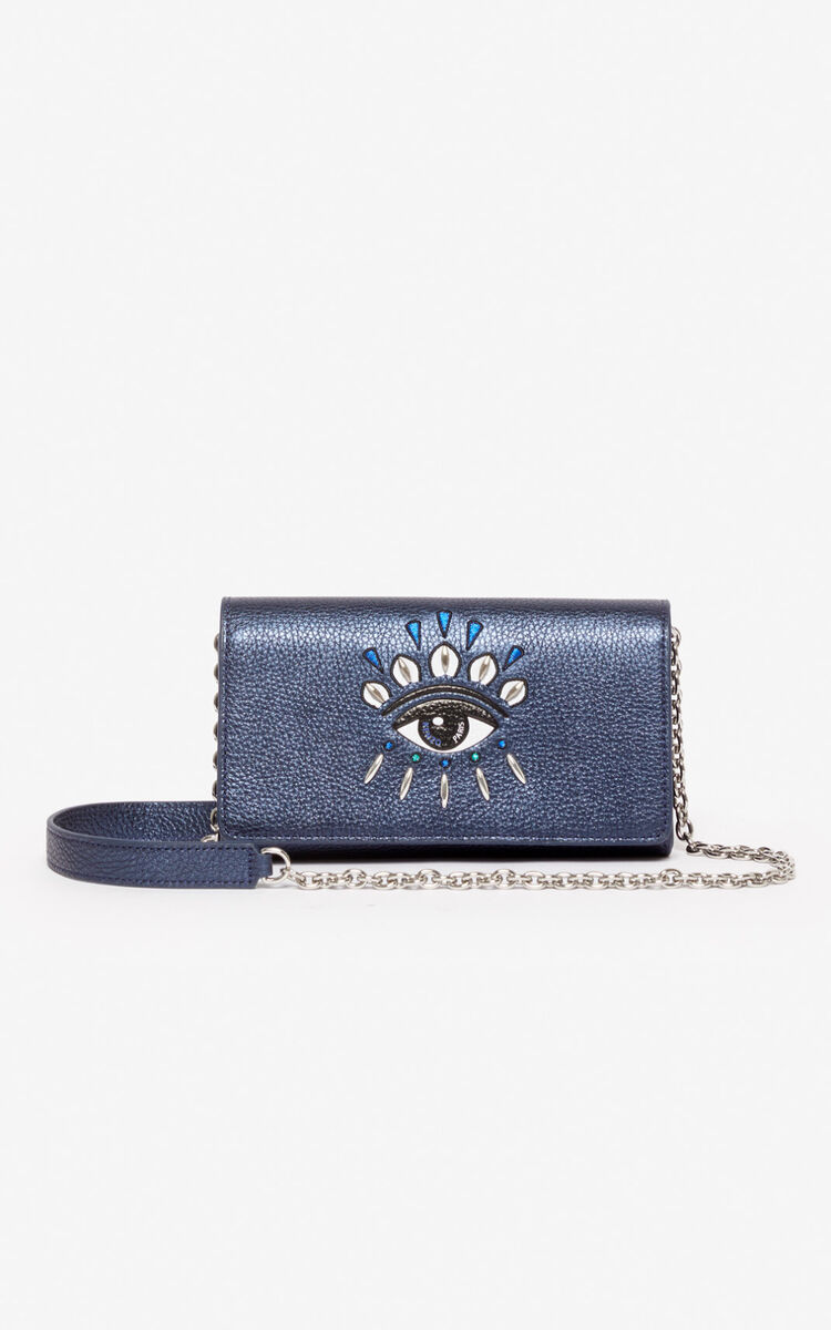 NAVY BLUE Wallet on Chain Kontact Eye   for unisex KENZO