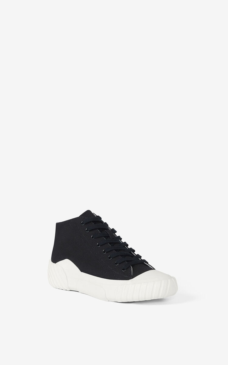 BLACK Tiger Crest high-top trainers   for unisex KENZO