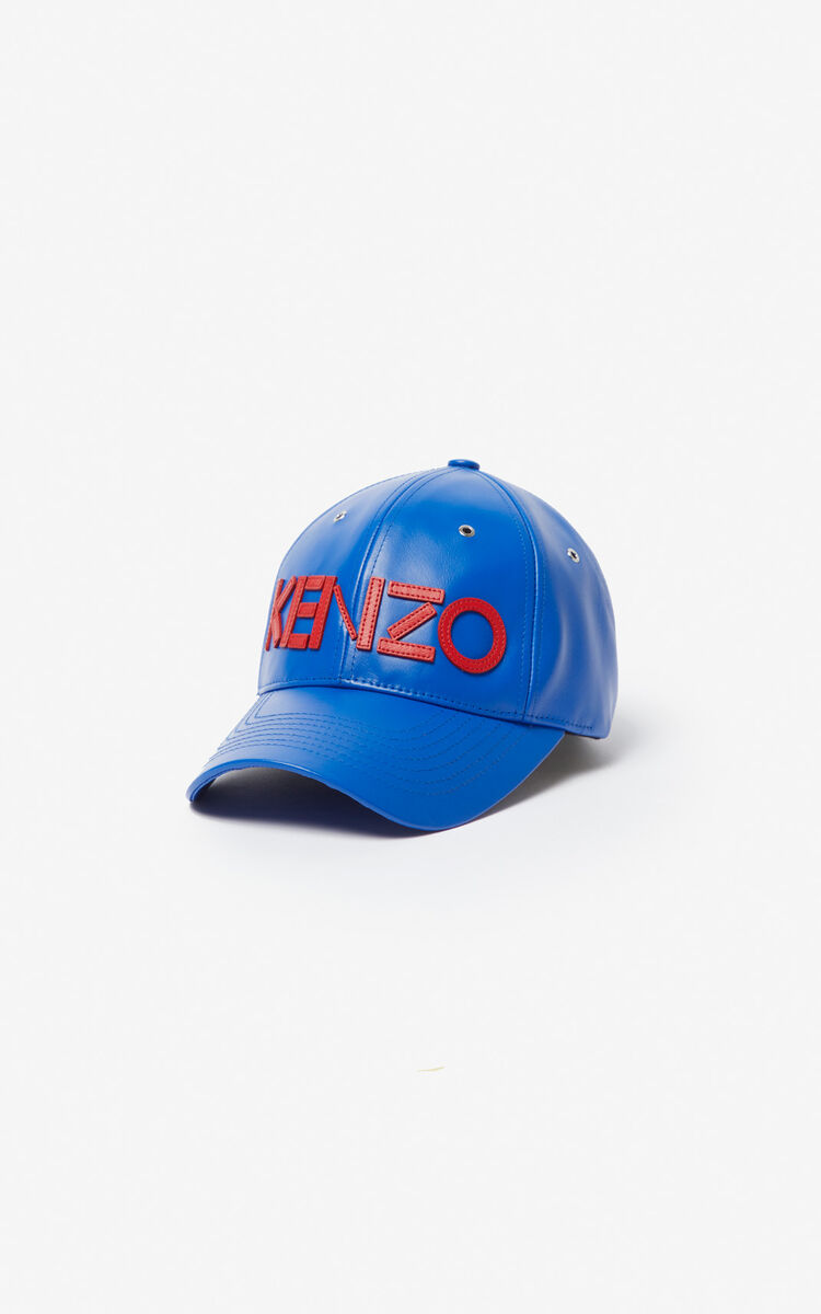 COBALT Leather cap KENZO Paris for unisex