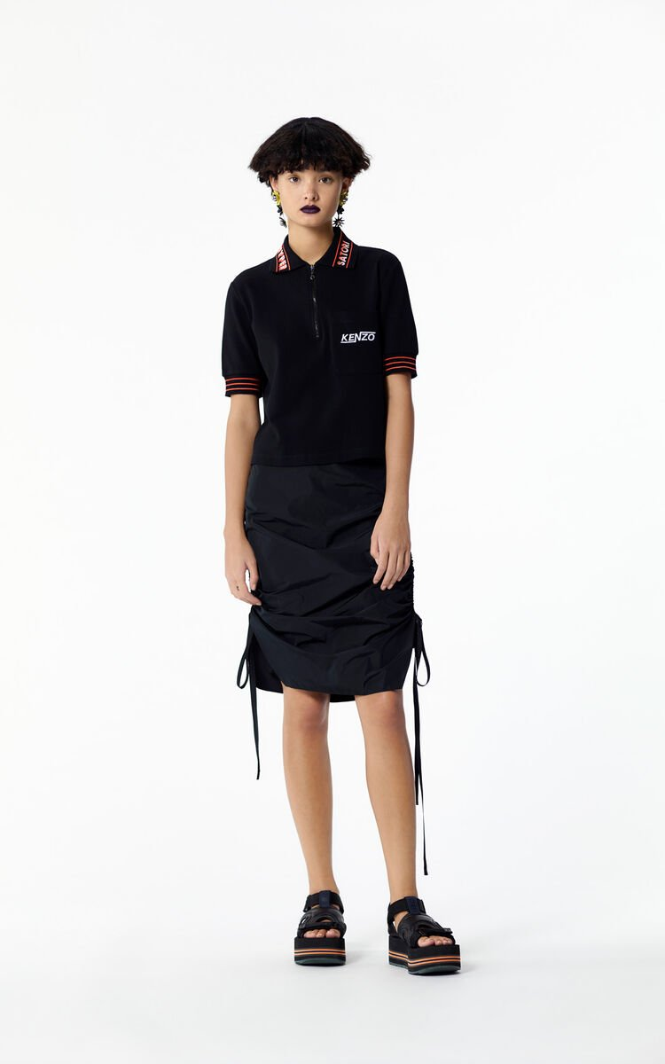 BLACK 'Hyper KENZO' zipped polo for women