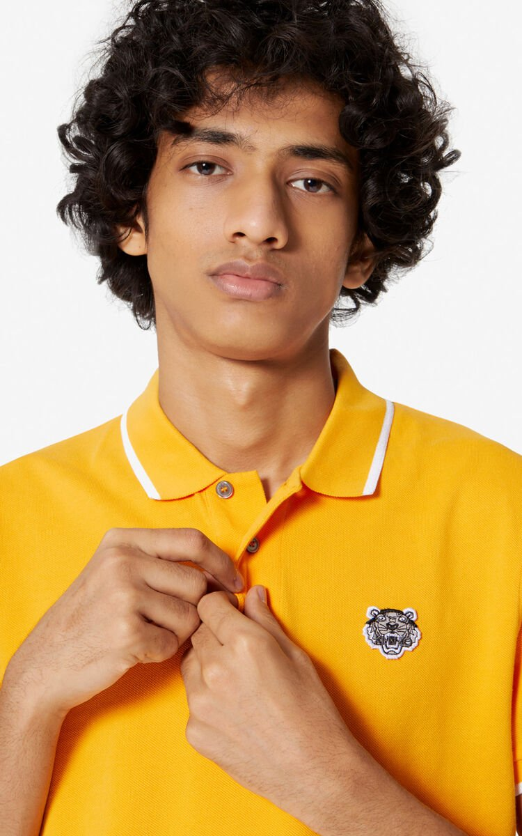MARIGOLD Fitted Tiger polo shirt  for men KENZO