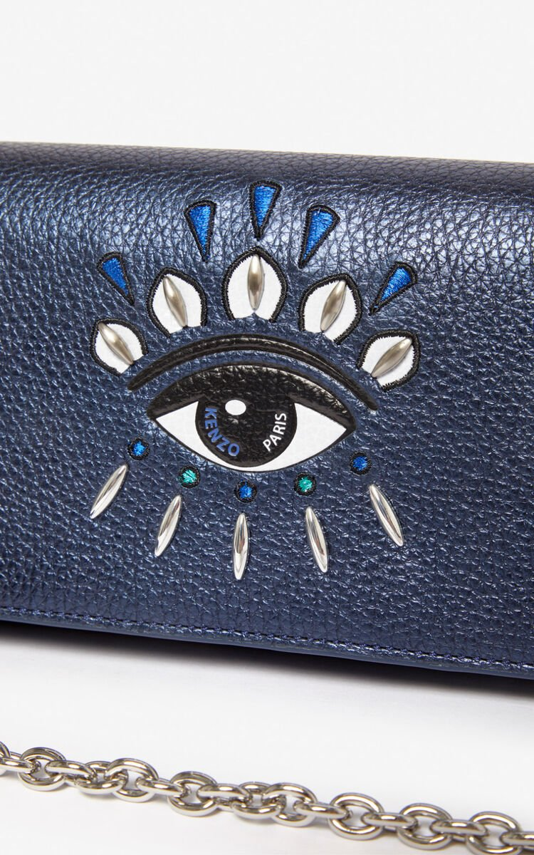 NAVY BLUE 2-in-1 Kontact Eye wallet  for unisex KENZO