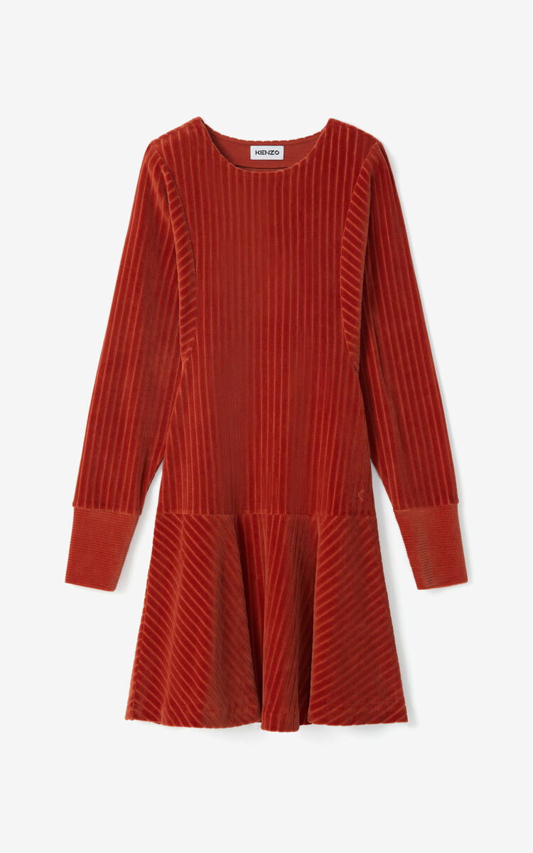 COGNAC Corduroy dress for women KENZO