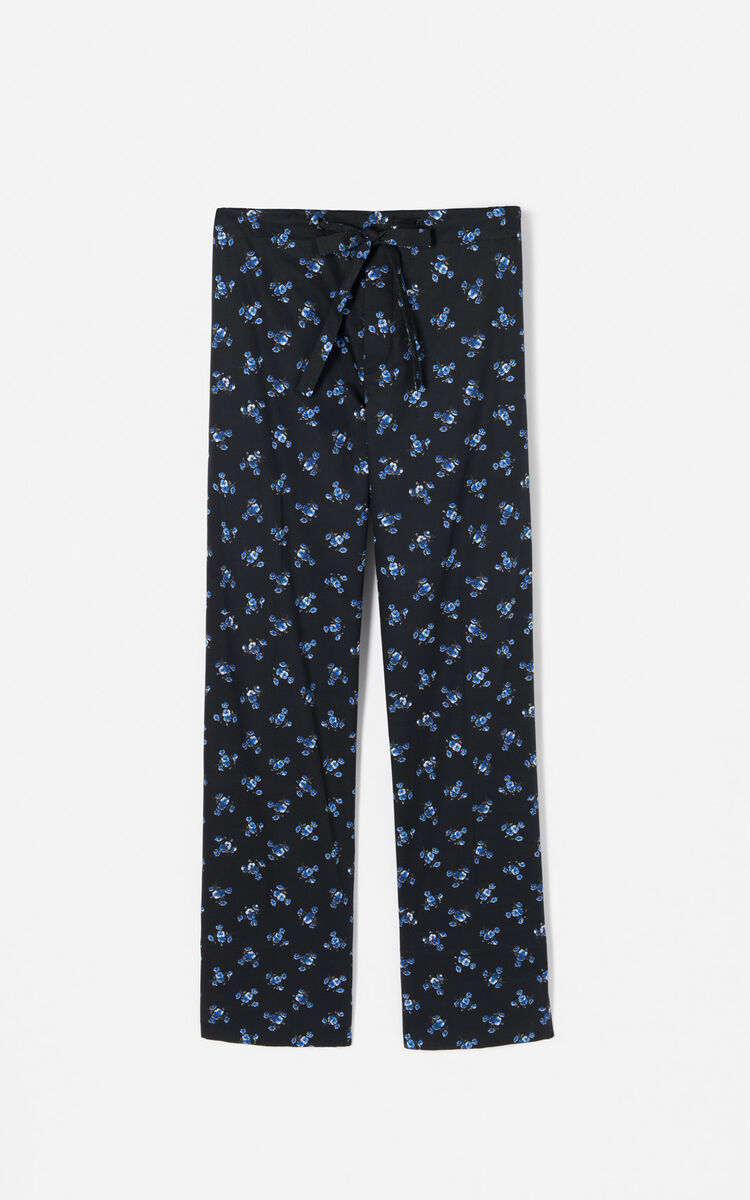 BLACK 'May Flowers' Pants for women KENZO