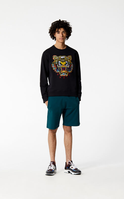 BLACK 'Dragon Tiger' Sweatshirt for men KENZO