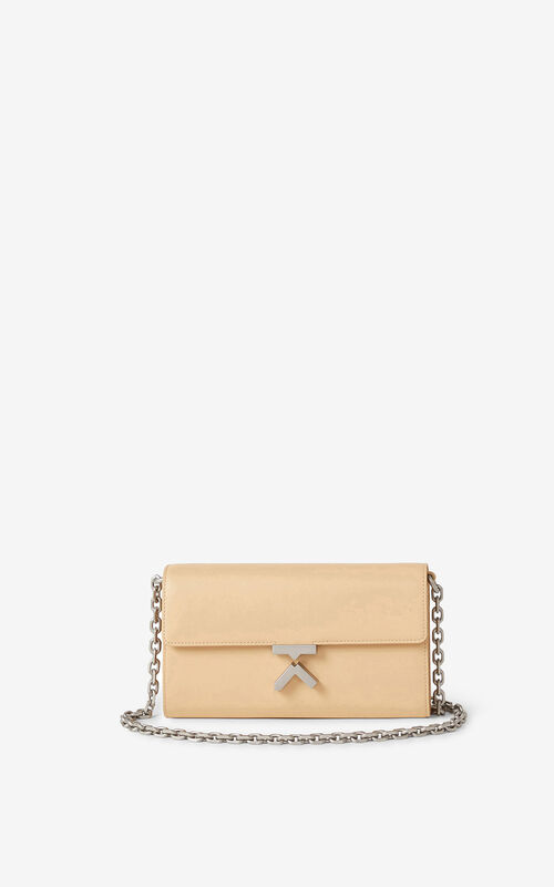 NUDE KENZO K leather chain wallet for unisex