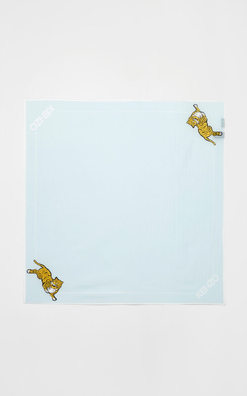 LIGHT BLUE 'Jumping Tiger' bandana for unisex KENZO