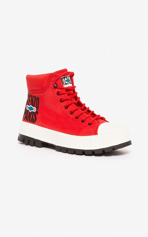 MEDIUM RED HIGH PALLADIUM 'PALLASHOCK' by KENZO for unisex