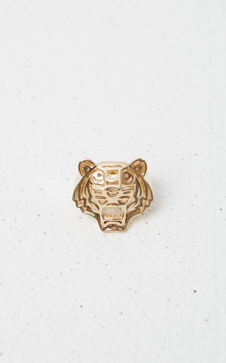 GOLD 3D Tiger Ring for unisex KENZO