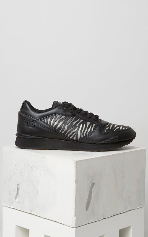 BLACK Tiger Stripes K-Run for men KENZO