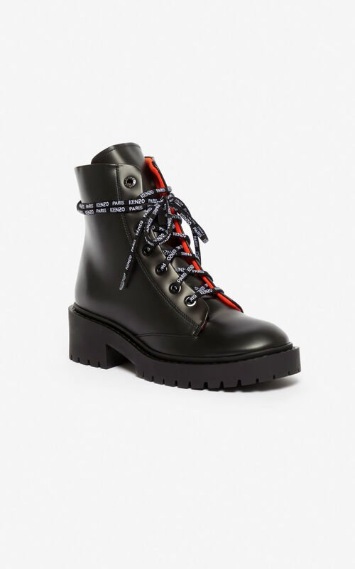 BLACK Pike two-tone boots for unisex KENZO