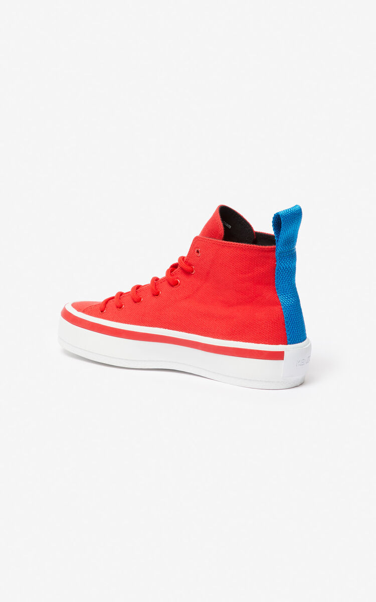 MEDIUM RED 'Square Logo' K-Street sneakers for women KENZO