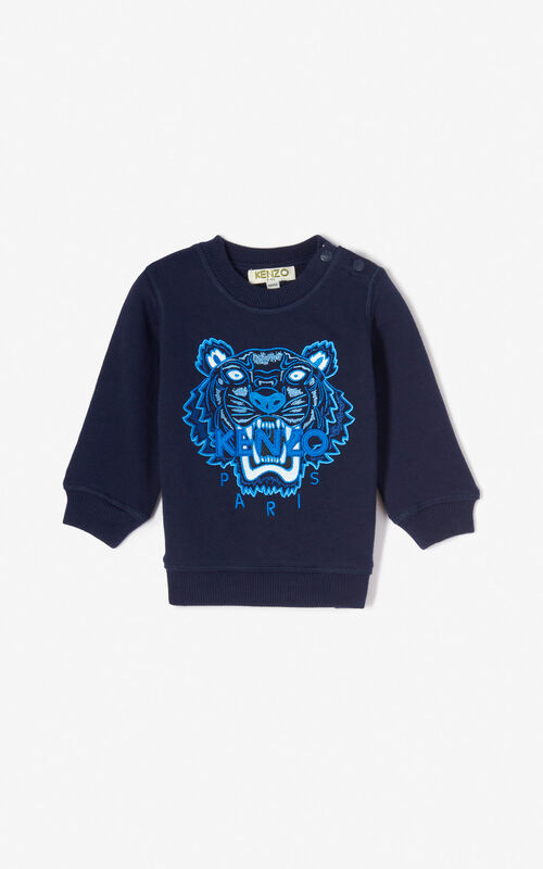 564a10f962e6a NAVY BLUE Tiger sweatshirt for men KENZO ...
