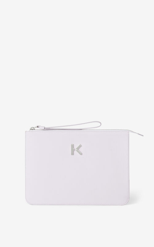WISTERIA KENZO K leather clutch for women