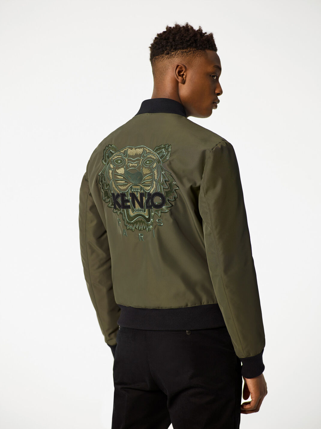 GREEN Tiger Bomber Jacket for men KENZO