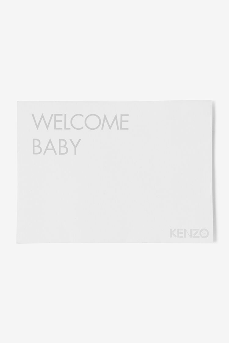 WHITE KENZO logo Baby Grow for unisex