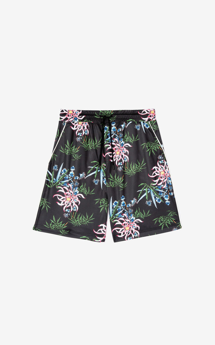 BLACK 'Sea Lily' shorts for men KENZO