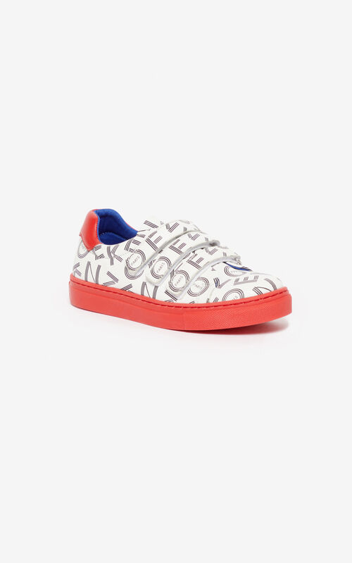 WHITE KENZO Logo sneakers for unisex