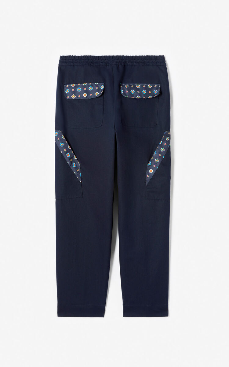 MIDNIGHT BLUE Cargo trousers for women KENZO