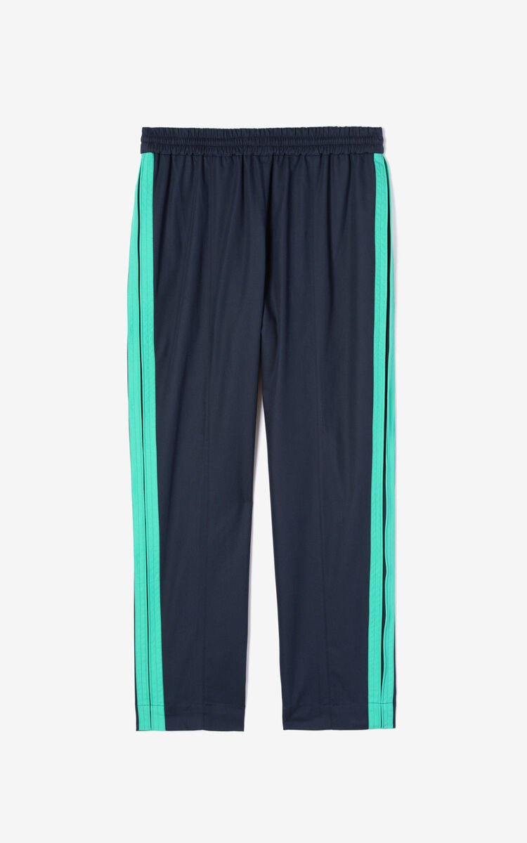 MIDNIGHT BLUE Tapered trousers for men KENZO