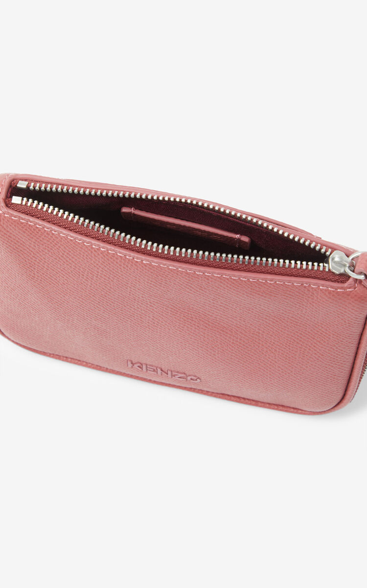 DARK ROSE KENZO Kompact small grained leather clutch for unisex