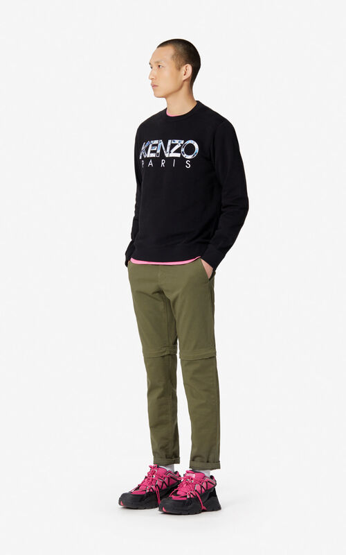 BLACK 'KENZO World' KENZO Paris sweatshirt for men