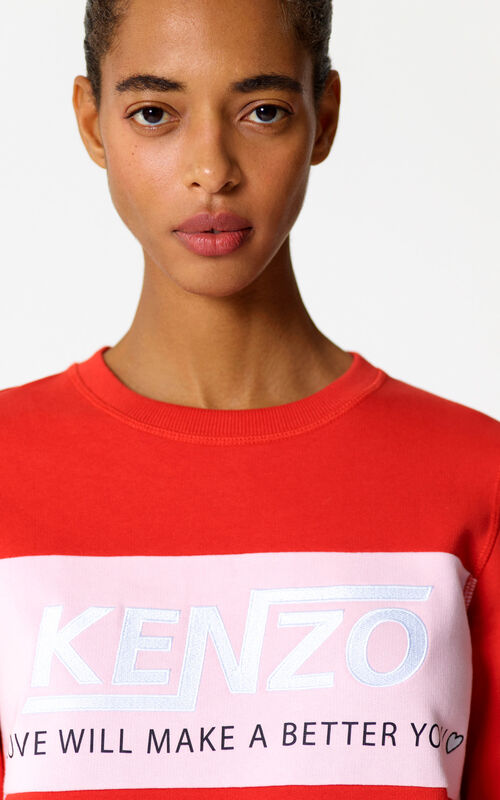 MEDIUM RED Hyper KENZO sweatshirt for women