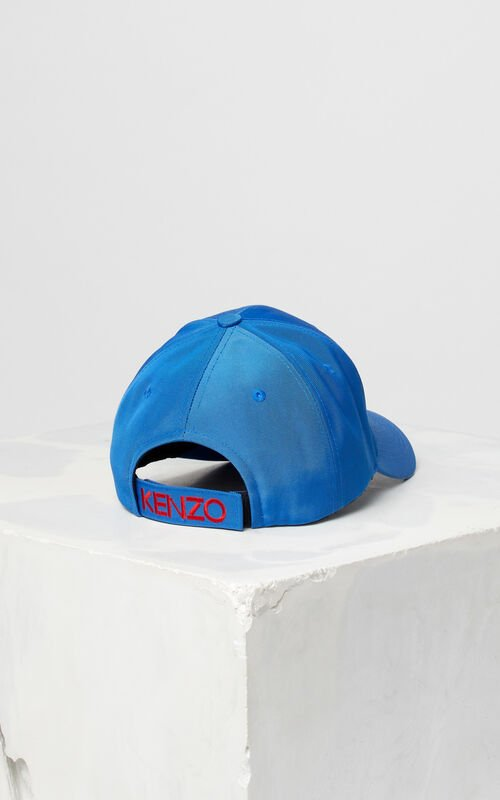 SLATE BLUE Tiger Canvas Cap for unisex KENZO
