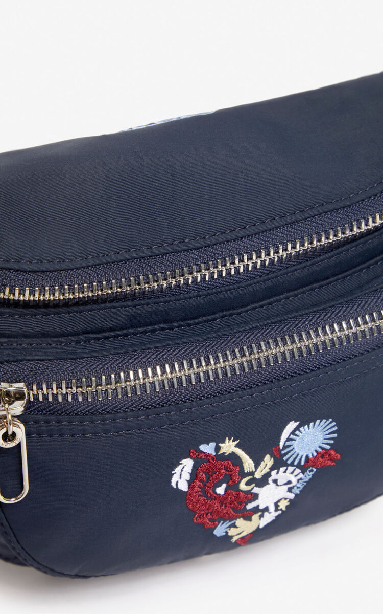 MIDNIGHT BLUE 'Lucky Star' bumbag for men KENZO