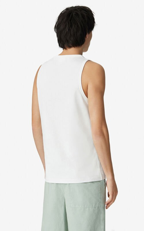 WHITE K-Tiger oversized vest top for women KENZO