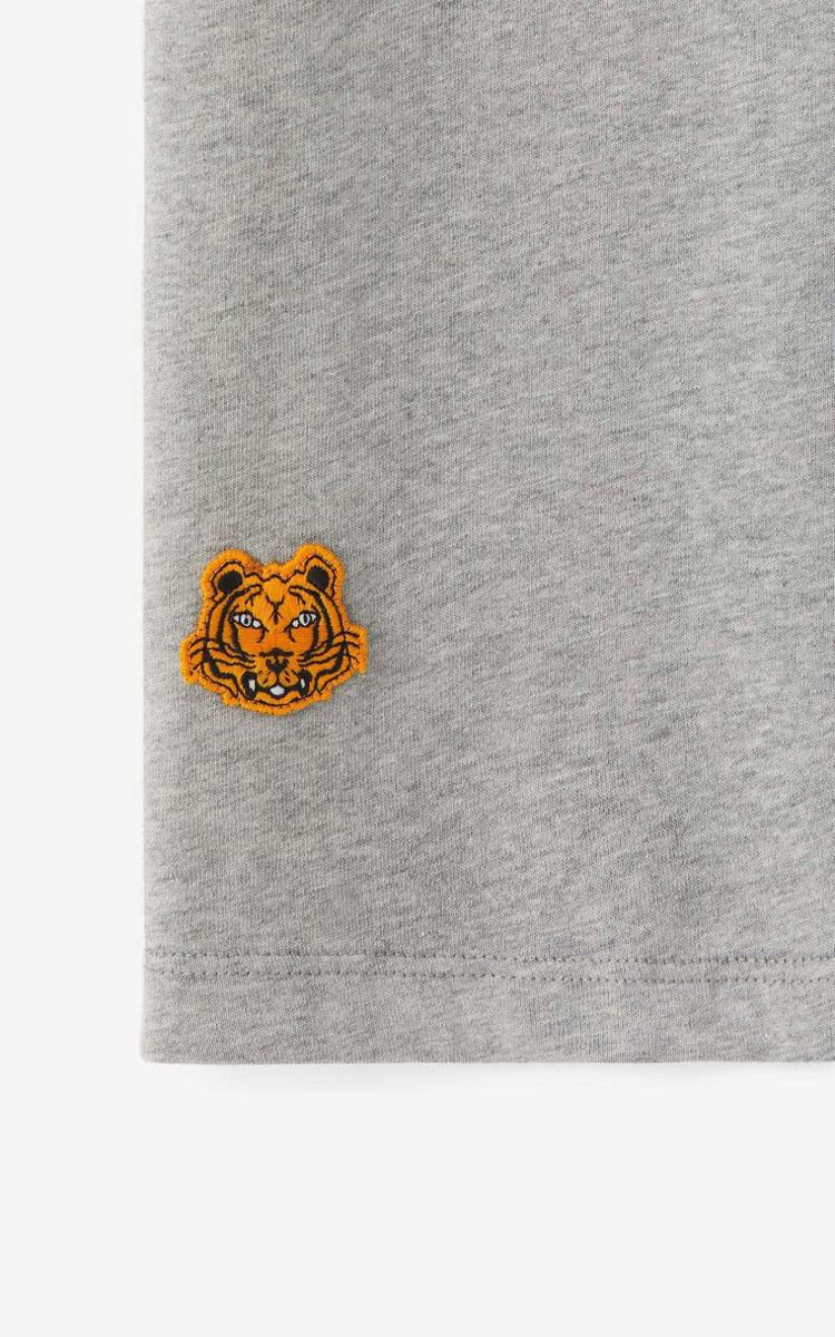 PEARL GREY K-Tiger oversized T-shirt for women KENZO