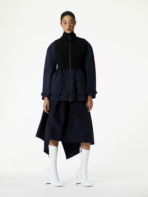 NAVY BLUE Short Parka  for women KENZO