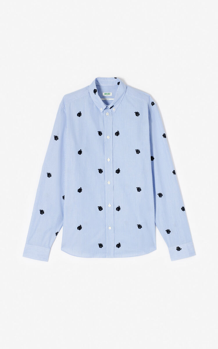 SKY BLUE 'Roses' slim-fit shirt for women KENZO