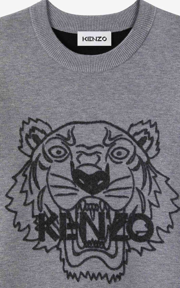 PEARL GREY Tiger jumper for women KENZO