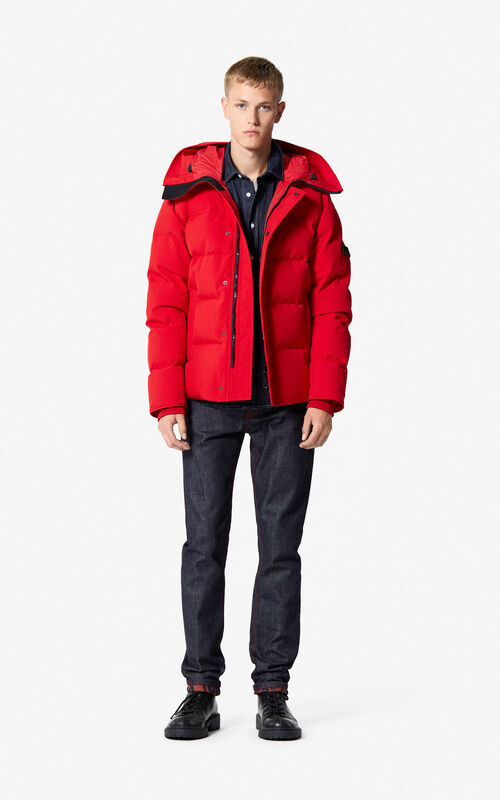 MEDIUM RED Quilted down jacket for men KENZO