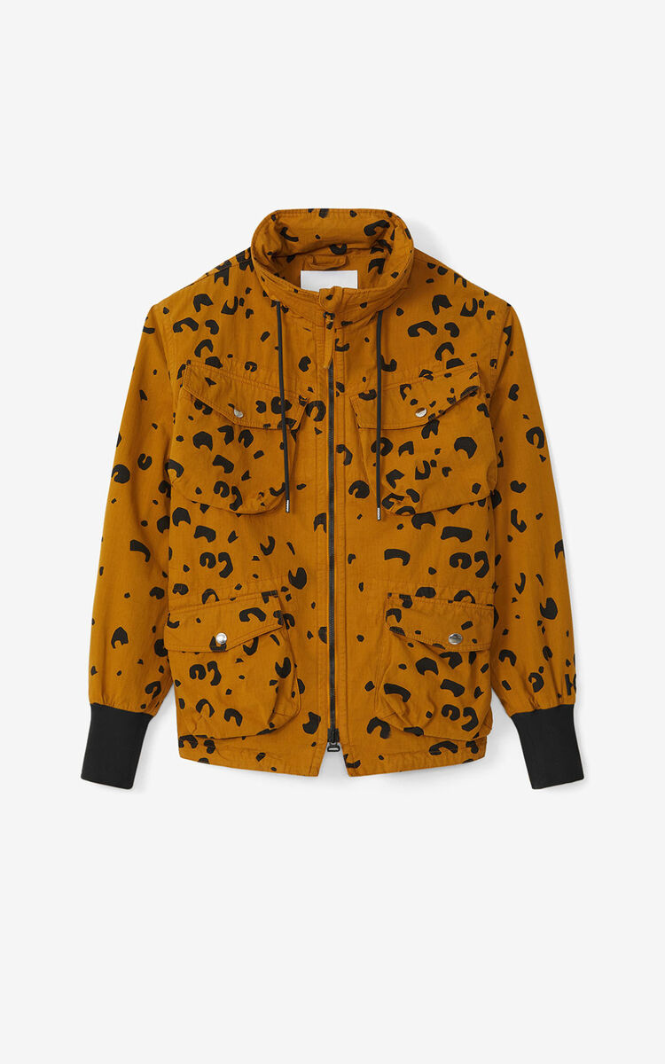 DARK BEIGE Printed parka for women KENZO