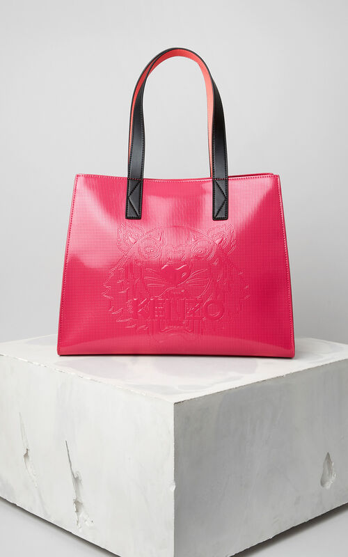 DEEP FUSCHIA Tiger Tote Bag for unisex KENZO