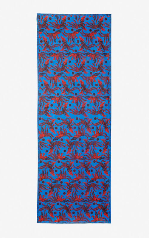 COBALT 'Flying Phoenix' scarf for women KENZO